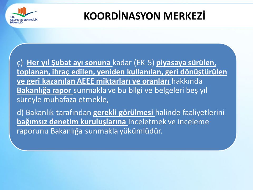 KOORDİNASYON MERKEZİ