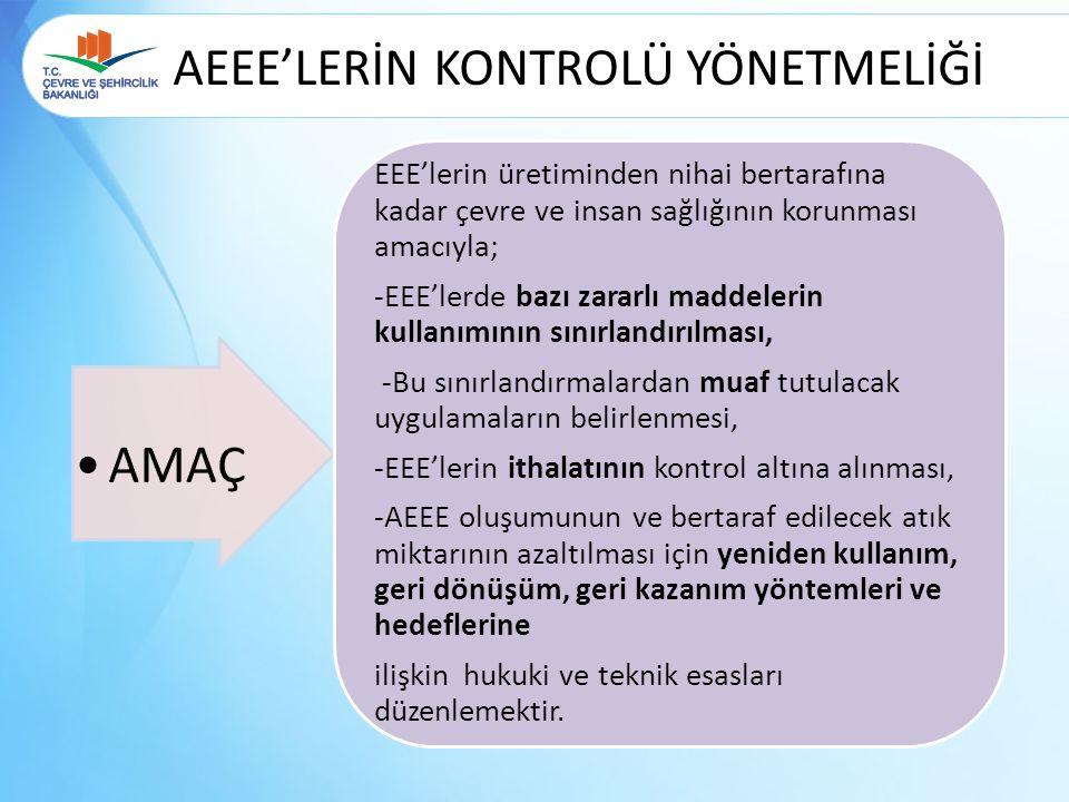 AEEE'LERİN KONTROLÜ YÖNETMELİĞİ