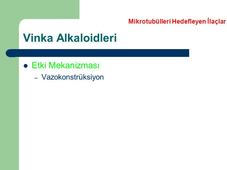 Vinka Alkaloidleri Etki Mekanizması Vazokonstrüksiyon