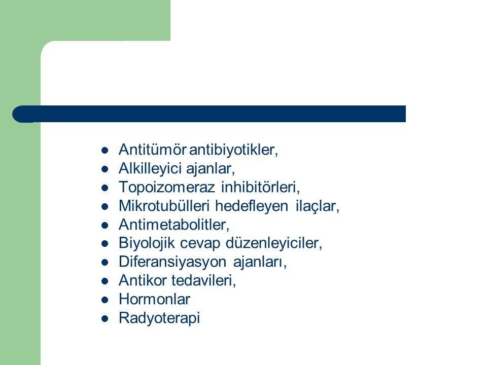 Antitümör antibiyotikler,