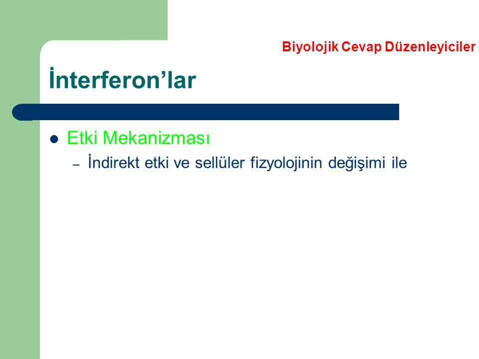 İnterferon'lar Etki Mekanizması
