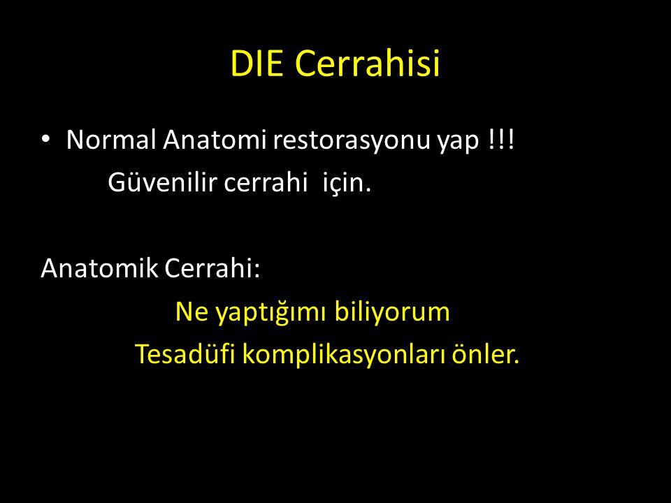 DIE Cerrahisi Normal Anatomi restorasyonu yap !!!