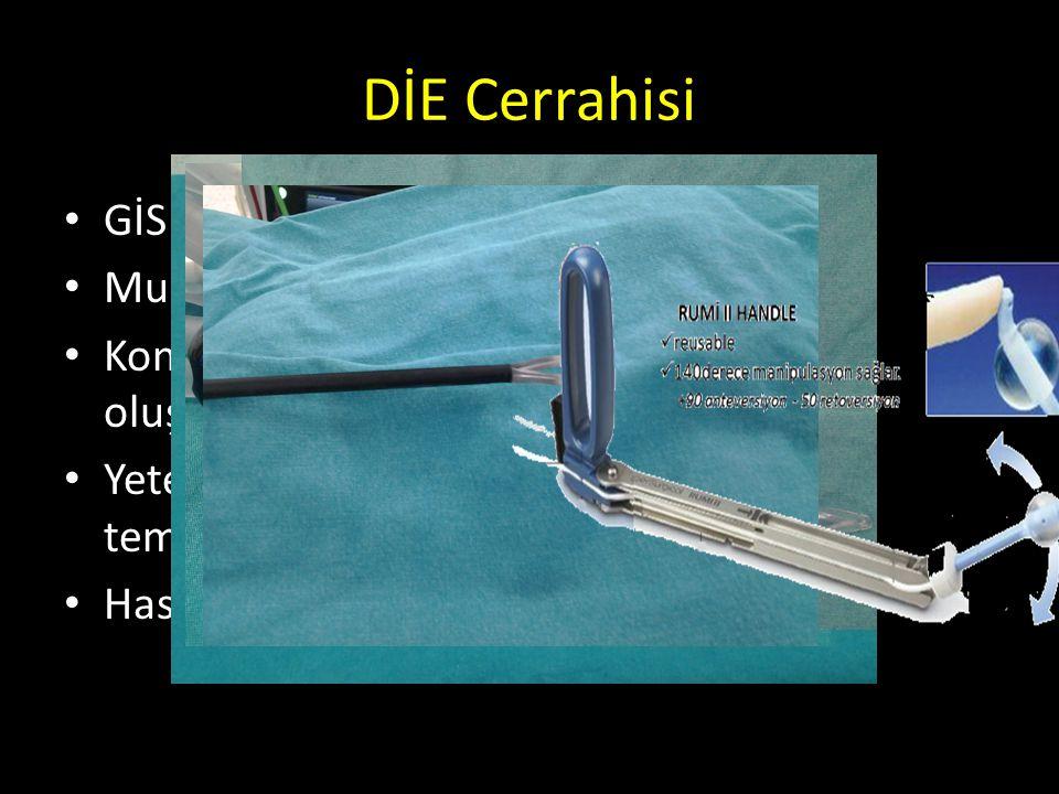 DİE Cerrahisi GİS , Üreter, Mesane tutulumu Multidisipliner yaklaşım