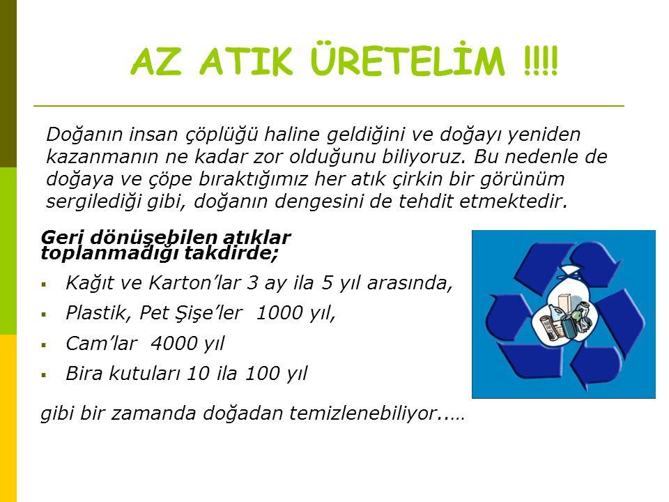 AZ ATIK ÜRETELİM !!!!