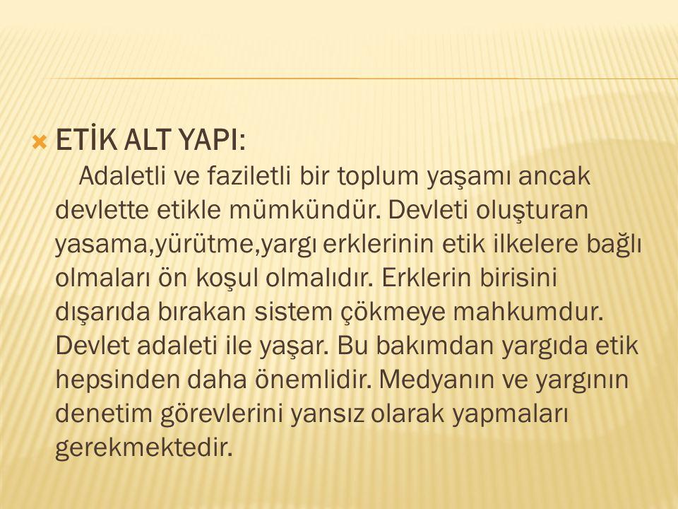 ETİK ALT YAPI: