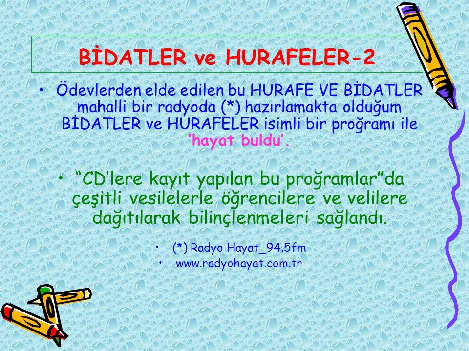 BİDATLER ve HURAFELER-2