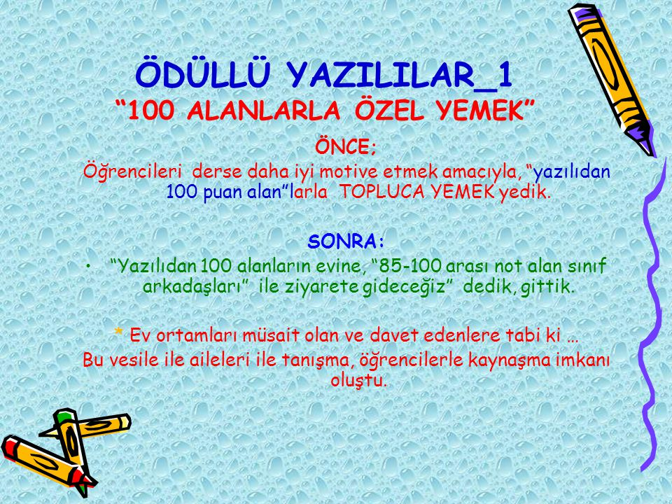 ÖDÜLLÜ YAZILILAR_1 100 ALANLARLA ÖZEL YEMEK