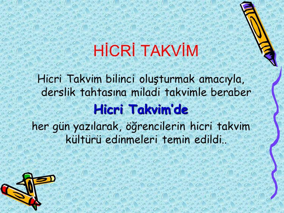 HİCRİ TAKVİM Hicri Takvim'de