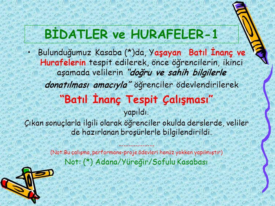 BİDATLER ve HURAFELER-1