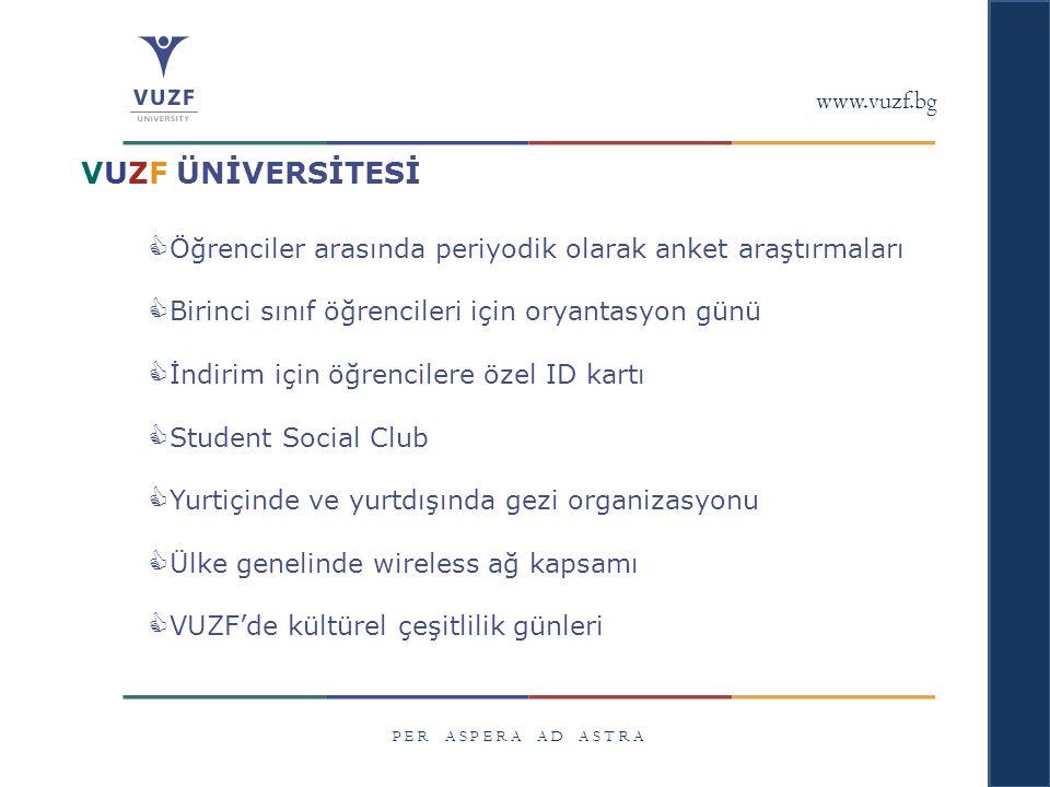 VUZF ÜNİVERSİTESİ www.vuzf.bg
