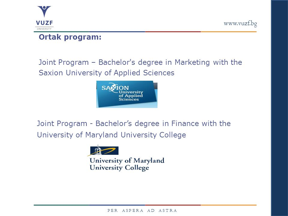 Joint Program – Bachelor s degree in Marketing with the