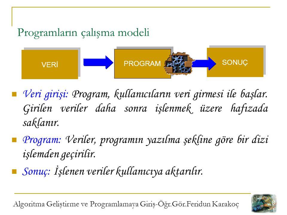 Programların çalışma modeli