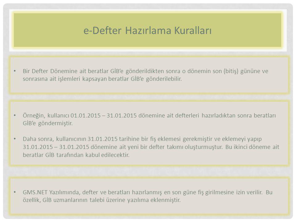 e-Defter Hazırlama Kuralları