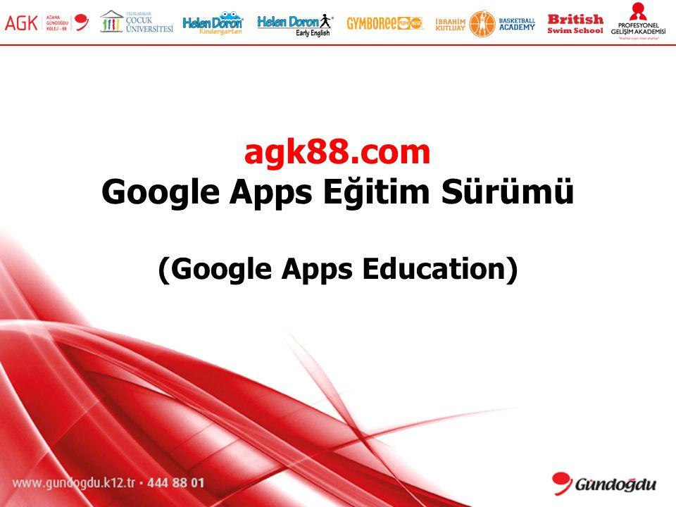 agk88.com Google Apps Eğitim Sürümü