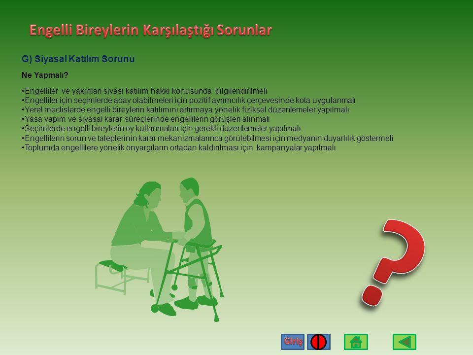 Engelli Bireylerin Karşılaştığı Sorunlar