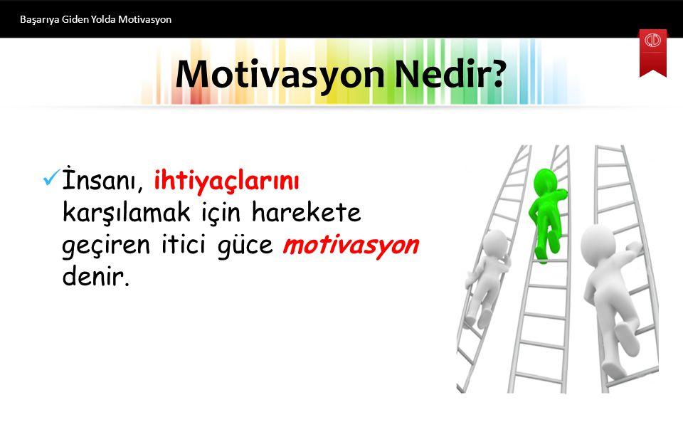 Başarıya Giden Yolda Motivasyon
