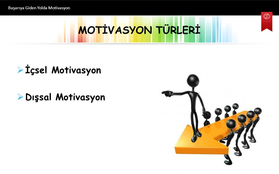 MOTİVASYON TÜRLERİ İçsel Motivasyon Dışsal Motivasyon