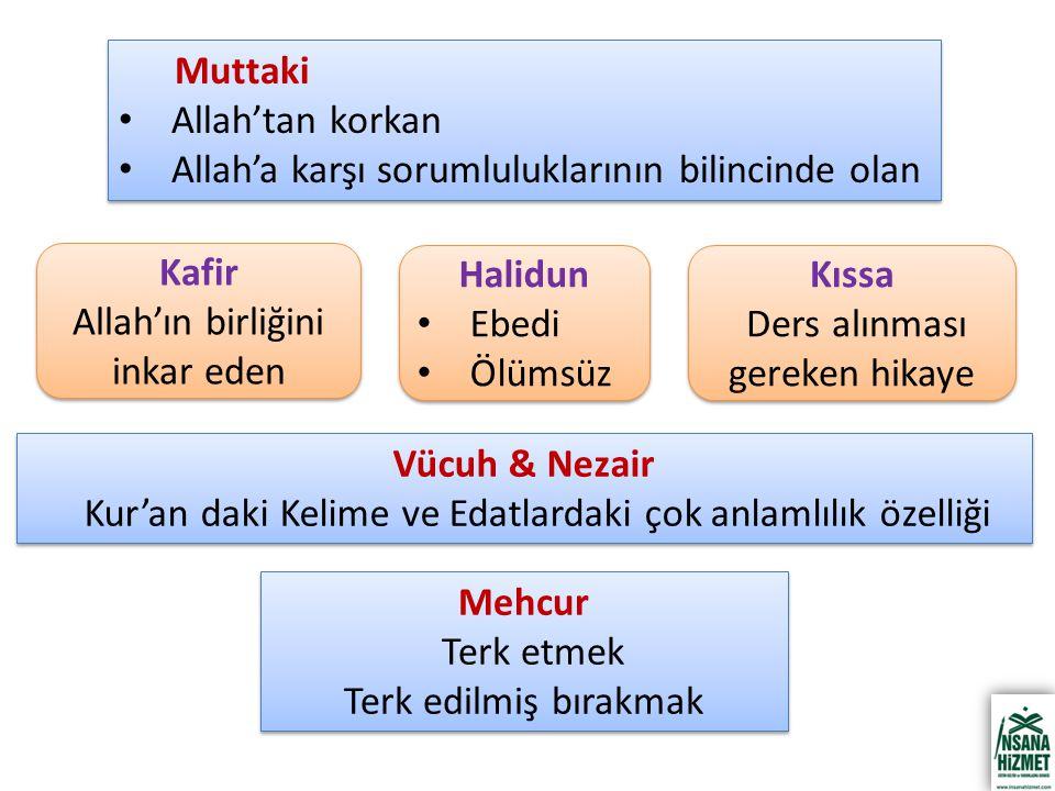 Kafir Halidun Kıssa Vücuh & Nezair Mehcur