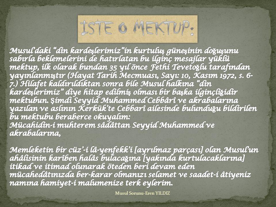 ISTE O MEKTUP: