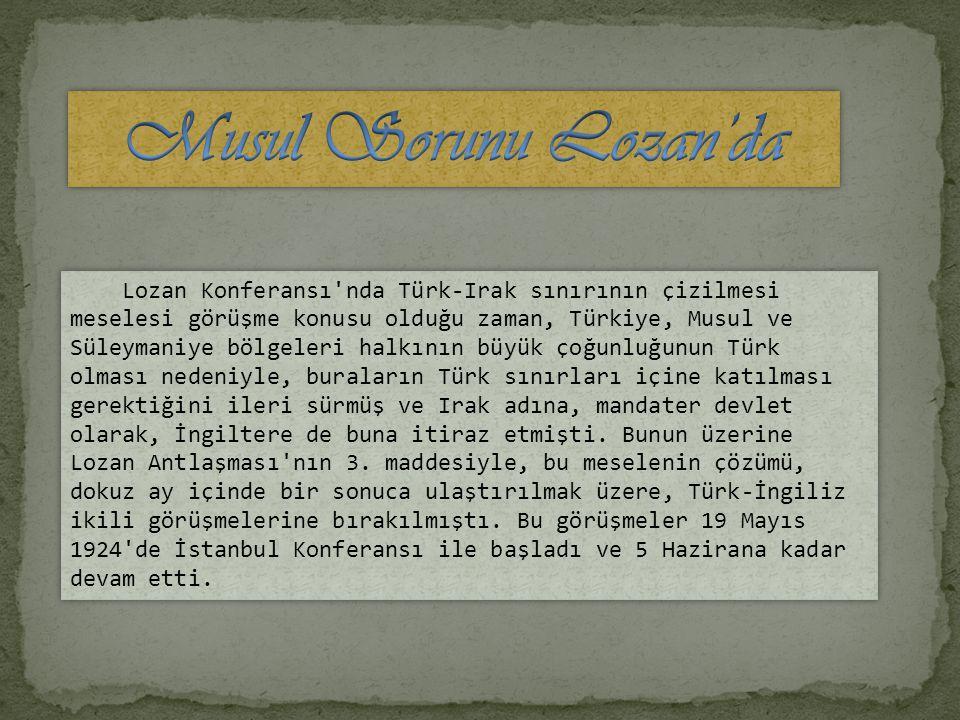Musul Sorunu Lozan'da