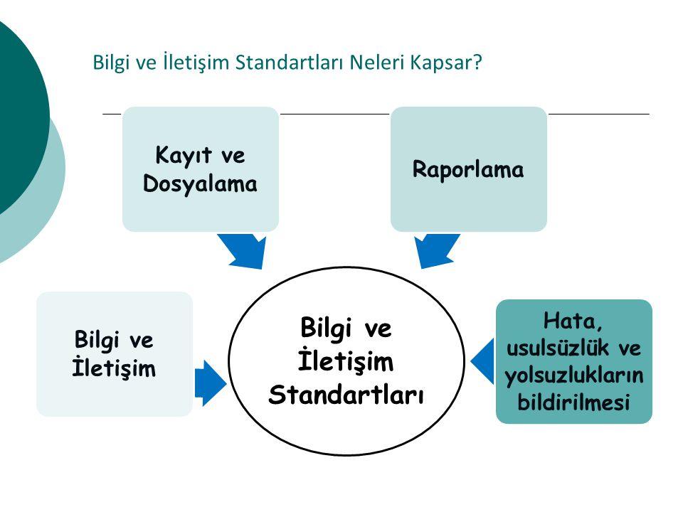 Bilgi ve İletişim Standartları Neleri Kapsar