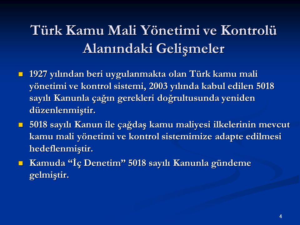 Türk Kamu Mali Yönetimi ve Kontrolü Alanındaki Gelişmeler