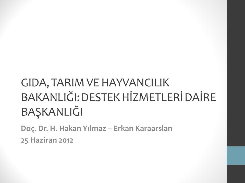 Doç. Dr. H. Hakan Yılmaz – Erkan Karaarslan 25 Haziran 2012