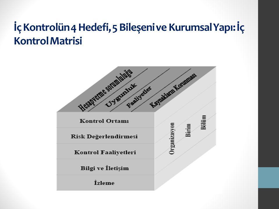 İç Kontrolün 4 Hedefi, 5 Bileşeni ve Kurumsal Yapı: İç Kontrol Matrisi