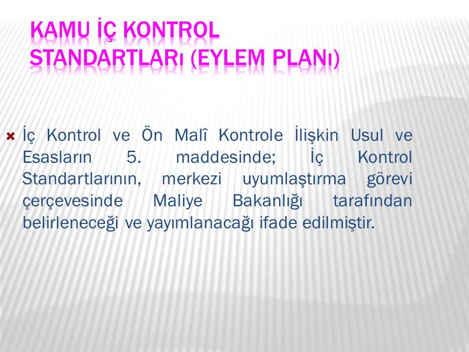 Kamu İç Kontrol Standartları (Eylem Planı)