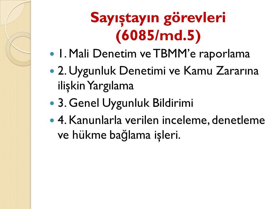 Sayıştayın görevleri (6085/md.5)