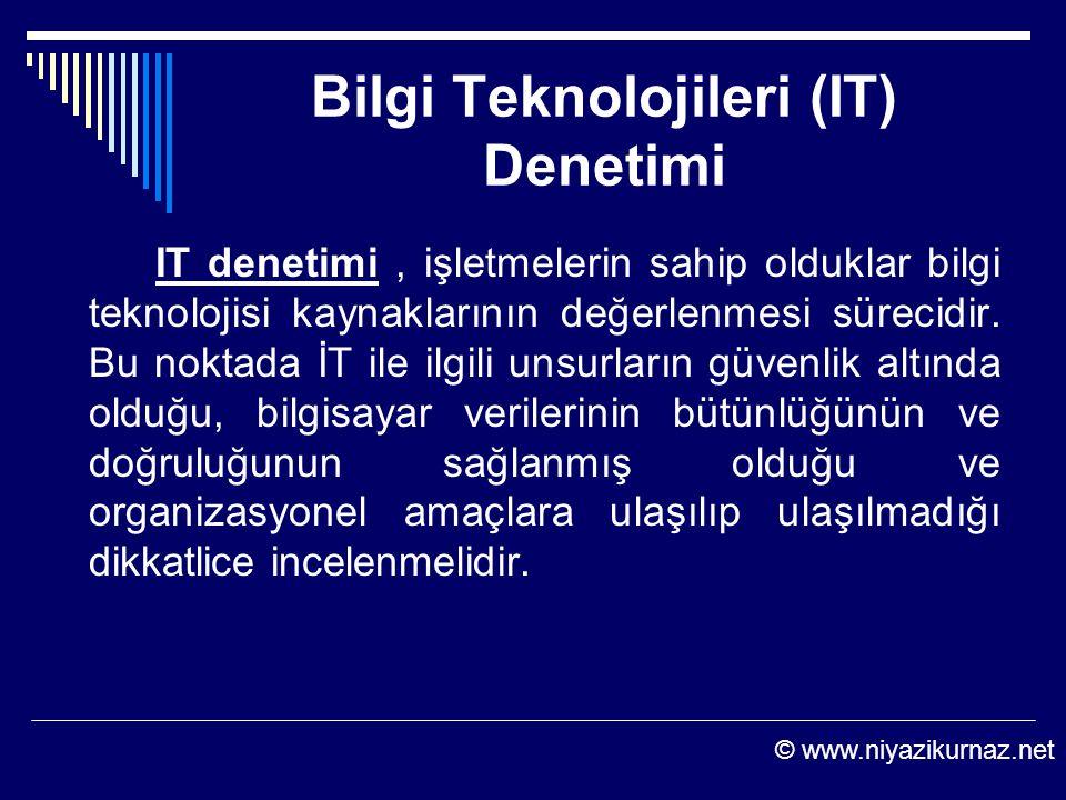 Bilgi Teknolojileri (IT) Denetimi