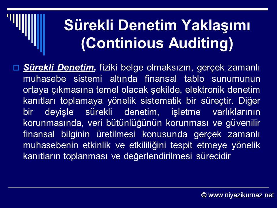 Sürekli Denetim Yaklaşımı (Continious Auditing)