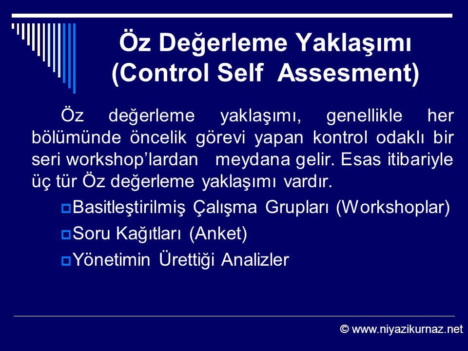 Öz Değerleme Yaklaşımı (Control Self Assesment)