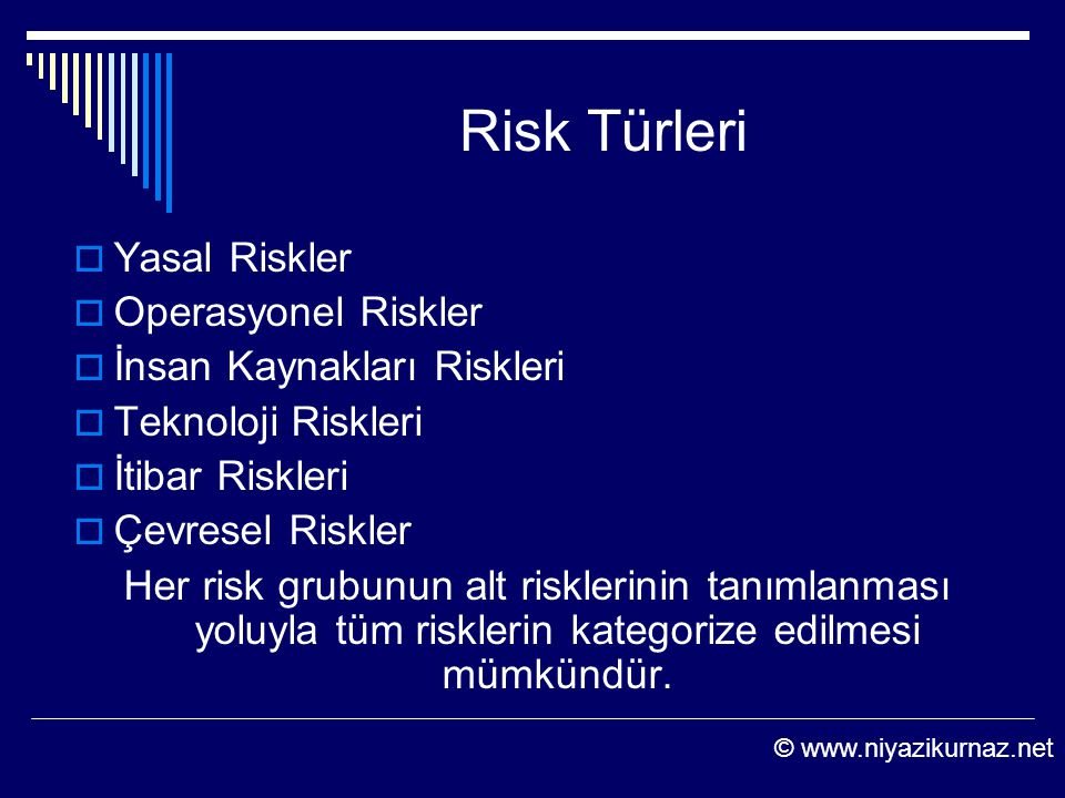 Risk Türleri Yasal Riskler Operasyonel Riskler