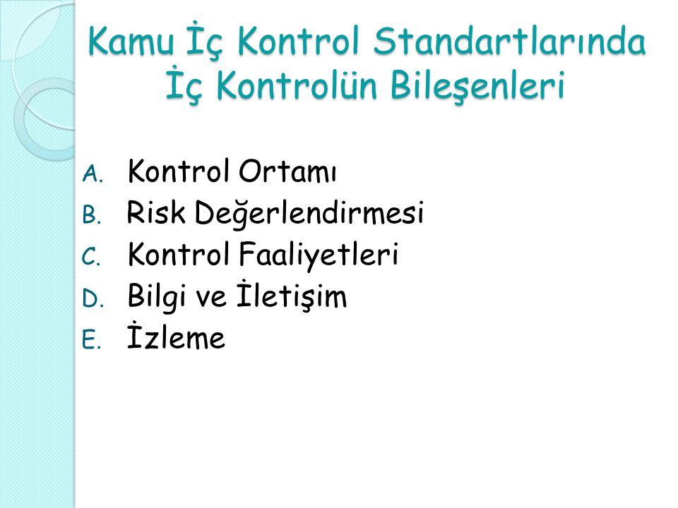 Kamu İç Kontrol Standartlarında İç Kontrolün Bileşenleri