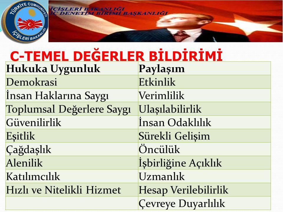C-TEMEL DEĞERLER BİLDİRİMİ