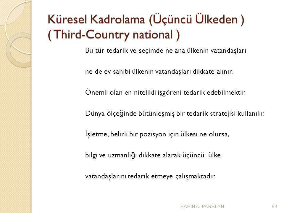 Küresel Kadrolama (Üçüncü Ülkeden ) ( Third-Country national )