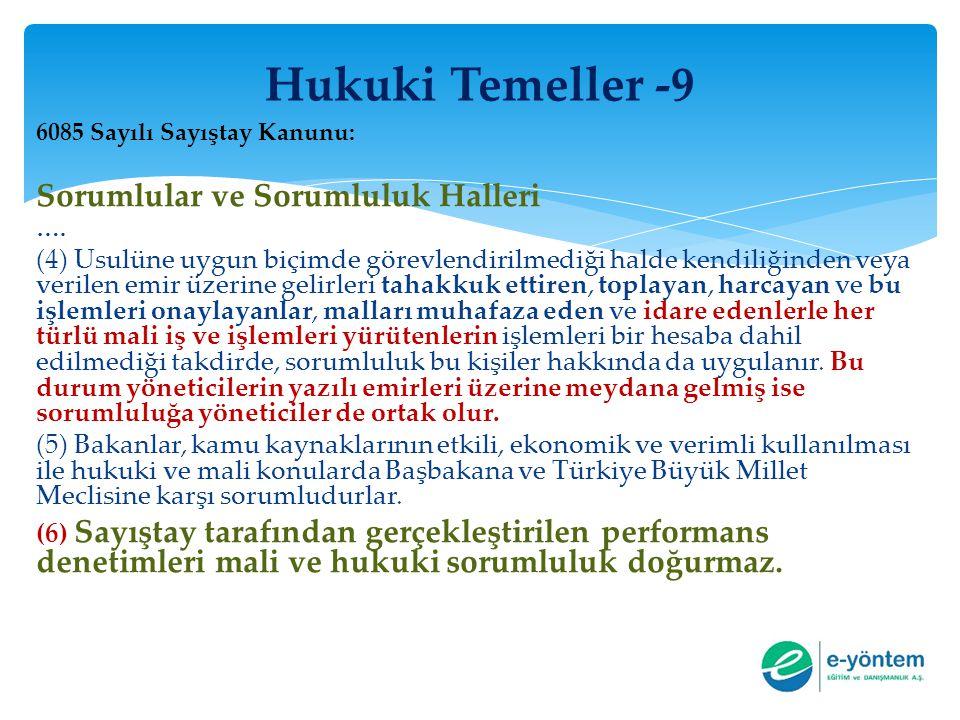 Hukuki Temeller -9 Sorumlular ve Sorumluluk Halleri