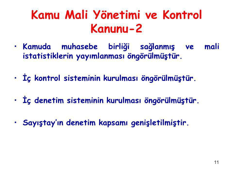 Kamu Mali Yönetimi ve Kontrol Kanunu-2