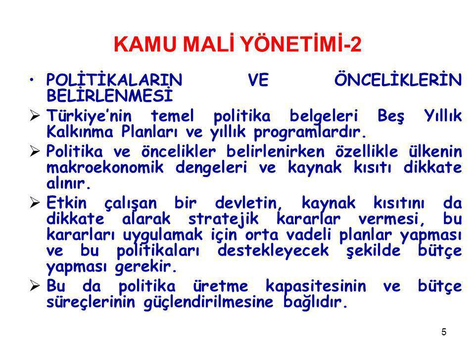 KAMU MALİ YÖNETİMİ-2 POLİTİKALARIN VE ÖNCELİKLERİN BELİRLENMESİ