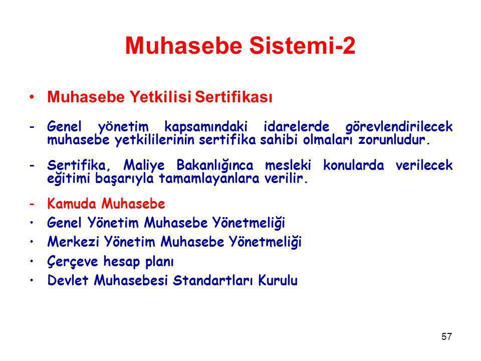 Muhasebe Sistemi-2 Muhasebe Yetkilisi Sertifikası