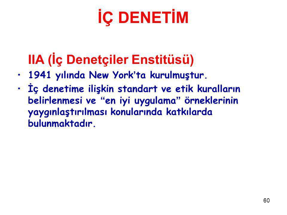 İÇ DENETİM IIA (İç Denetçiler Enstitüsü)