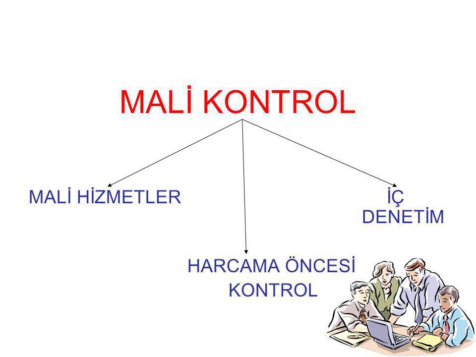 MALİ KONTROL MALİ HİZMETLER İÇ DENETİM HARCAMA ÖNCESİ KONTROL