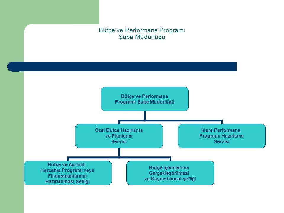 Bütçe ve Performans Programı Şube Müdürlüğü