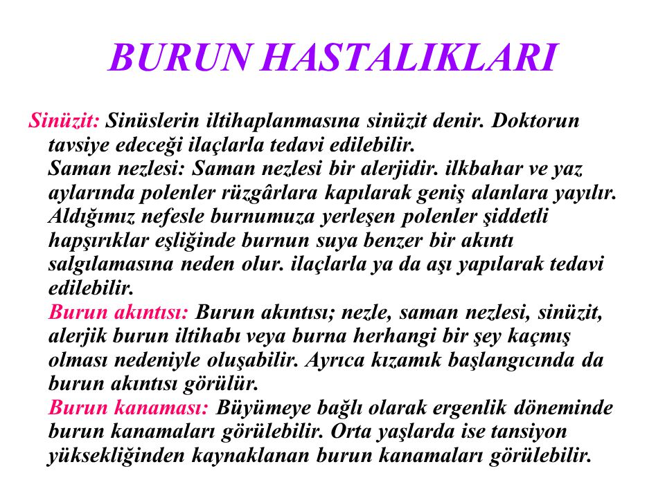 BURUN HASTALIKLARI