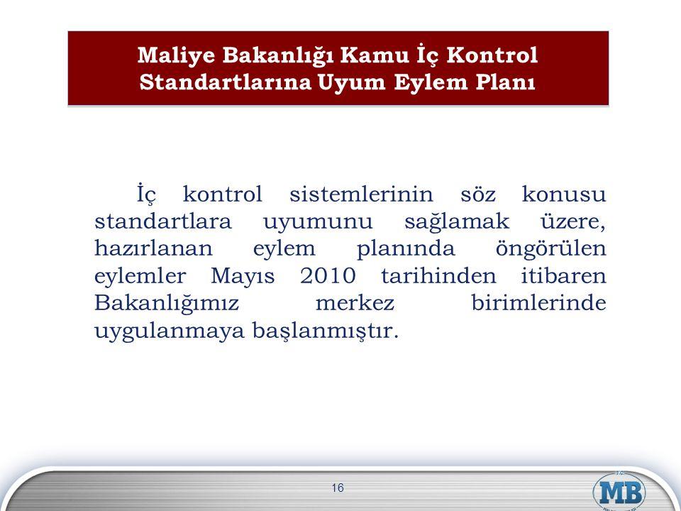 Maliye Bakanlığı Kamu İç Kontrol Standartlarına Uyum Eylem Planı