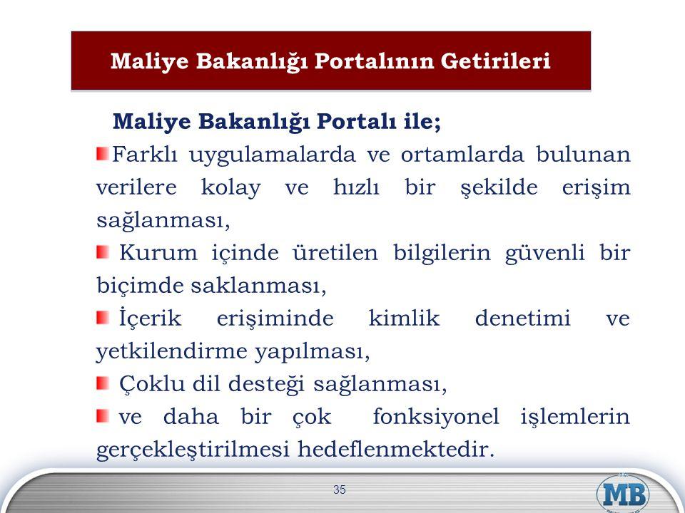 Maliye Bakanlığı Portalının Getirileri