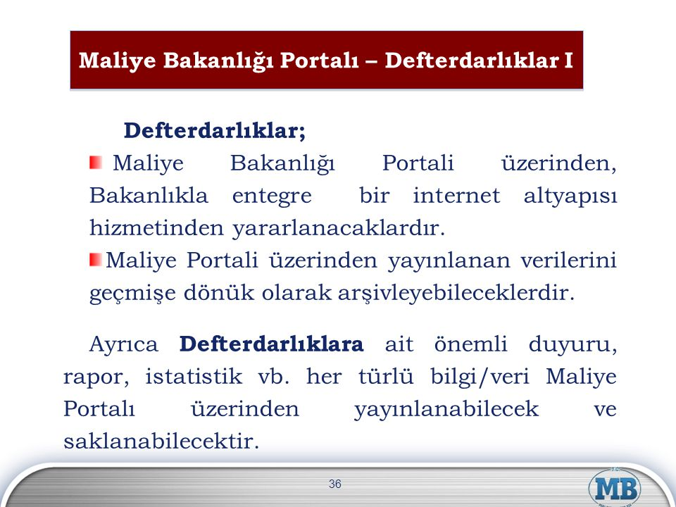 Maliye Bakanlığı Portalı – Defterdarlıklar I