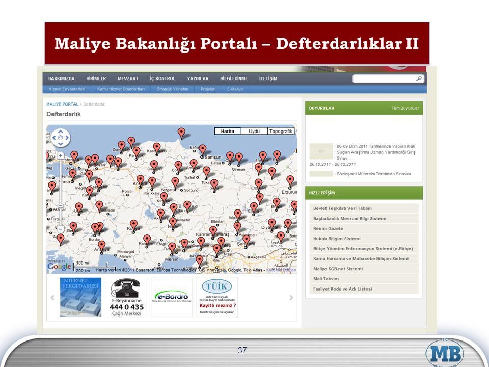 Maliye Bakanlığı Portalı – Defterdarlıklar II