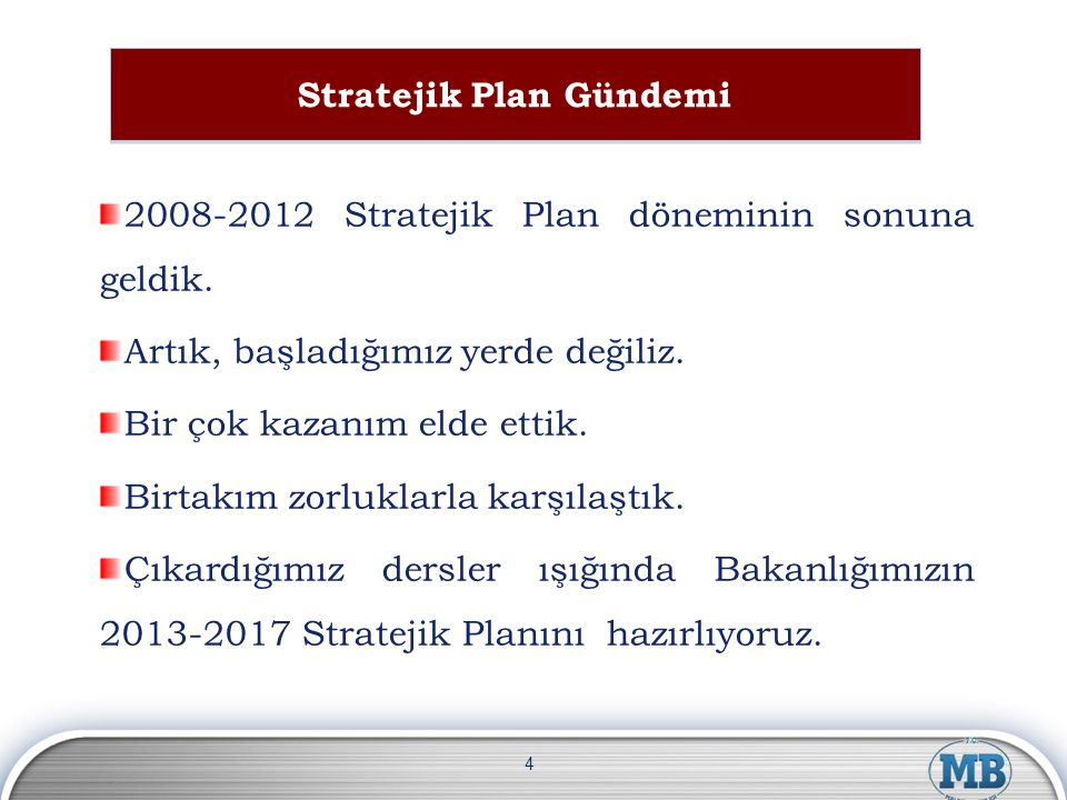 Stratejik Plan Gündemi